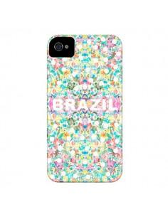 Coque Brazil Brésil Coupe du Monde pour iPhone 4 et 4S - AlekSia