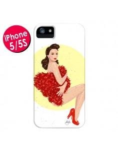Coque Burlesque Femme Fatale pour iPhone 5 et 5S - AlekSia