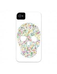 Coque Flower Skull Tête de Mort pour iPhone 4 et 4S - AlekSia