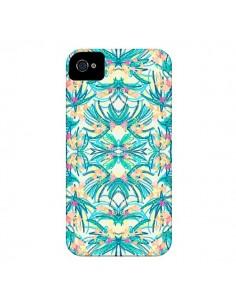 Coque Palm Floral Fleurs pour iPhone 4 et 4S - AlekSia
