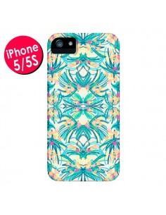 Coque Palm Floral Fleurs pour iPhone 5 et 5S - AlekSia