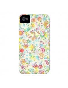 Coque Primavera Fleurs pour iPhone 4 et 4S - AlekSia