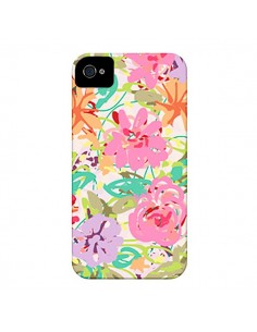 Coque Fleurs Botanical pour iPhone 4 et 4S - AlekSia