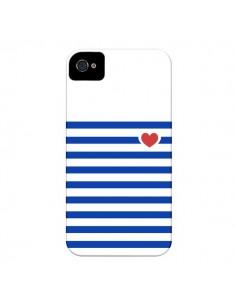 Coque Mariniere Coeur pour iPhone 4 et 4S - Jonathan Perez
