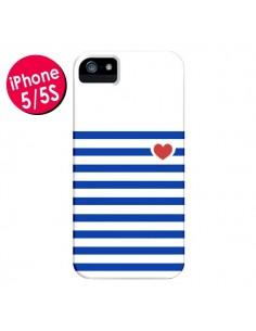 Coque Mariniere Coeur pour iPhone 5 et 5S - Jonathan Perez
