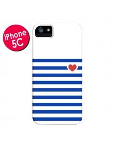 Coque Mariniere Coeur pour iPhone 5C - Jonathan Perez