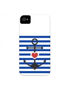Coque Mariniere Encre Marin Coeur pour iPhone 4 et 4S - Jonathan Perez