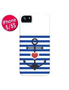 Coque Mariniere Encre Marin Coeur pour iPhone 5 et 5S - Jonathan Perez