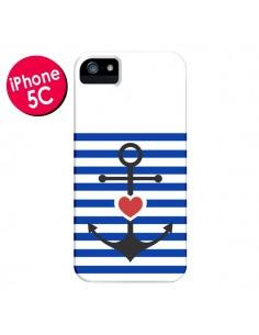 Coque Mariniere Encre Marin Coeur pour iPhone 5C - Jonathan Perez