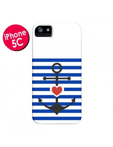Coque Mariniere Encre Marin Coeur pour iPhone 5C - Jonathan Perez