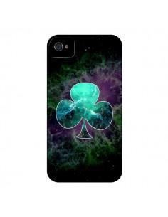 Coque Nebula Club Trèfle Galaxie pour iPhone 4 et 4S - Jonathan Perez