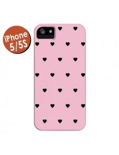 Coque Coeurs Roses pour iPhone 5 et 5S - Jonathan Perez
