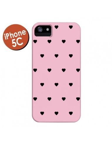 Coque Coeurs Roses pour iPhone 5C - Jonathan Perez
