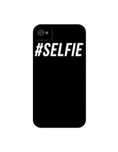 Coque Hashtag Selfie Noir Vertical pour iPhone 4 et 4S - Jonathan Perez