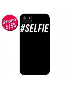 Coque Hashtag Selfie Noir Vertical pour iPhone 5 et 5S - Jonathan Perez