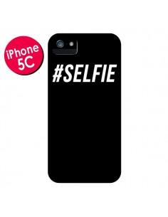 Coque Hashtag Selfie Noir Vertical pour iPhone 5C - Jonathan Perez