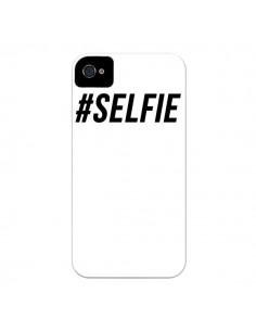 Coque Hashtag Selfie Blanc Vertical pour iPhone 4 et 4S - Jonathan Perez