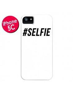 Coque Hashtag Selfie Blanc Vertical pour iPhone 5C - Jonathan Perez