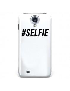 Coque Hashtag Selfie Blanc Vertical pour Samsung Galaxy S4 - Jonathan Perez