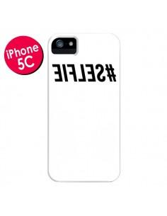 Coque Hashtag Selfie Blanc Inversé pour iPhone 5C - Jonathan Perez