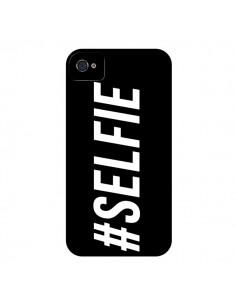 Coque Hashtag Selfie Noir Horizontal pour iPhone 4 et 4S - Jonathan Perez
