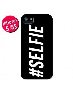 Coque Hashtag Selfie Noir Horizontal pour iPhone 5 et 5S - Jonathan Perez