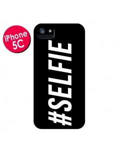 Coque Hashtag Selfie Noir Horizontal pour iPhone 5C - Jonathan Perez