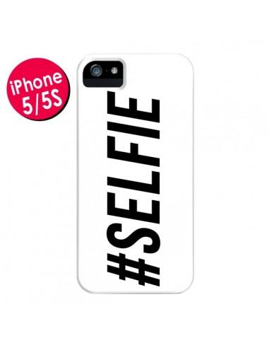 Coque Hashtag Selfie Blanc Horizontal pour iPhone 5 et 5S - Jonathan Perez
