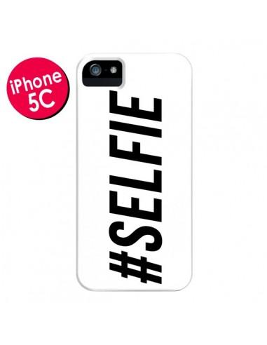 Coque Hashtag Selfie Blanc Horizontal pour iPhone 5C - Jonathan Perez
