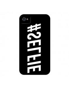 Coque Hashtag Selfie Noir Inversé Horizontal pour iPhone 4 et 4S - Jonathan Perez