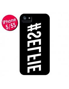 Coque Hashtag Selfie Noir Inversé Horizontal pour iPhone 5 et 5S - Jonathan Perez