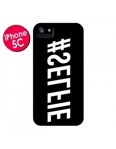 Coque Hashtag Selfie Noir Inversé Horizontal pour iPhone 5C - Jonathan Perez