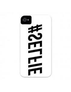 Coque Hashtag Selfie Blanc Inversé Horizontal pour iPhone 4 et 4S - Jonathan Perez