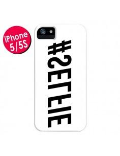 Coque Hashtag Selfie Blanc Inversé Horizontal pour iPhone 5 et 5S - Jonathan Perez