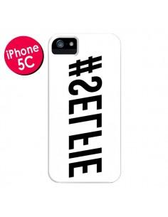 Coque Hashtag Selfie Blanc Inversé Horizontal pour iPhone 5C - Jonathan Perez