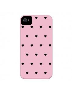 Coque Coeurs Roses pour iPhone 4 et 4S - Jonathan Perez