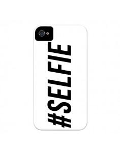 Coque Hashtag Selfie Blanc Horizontal pour iPhone 4 et 4S - Jonathan Perez