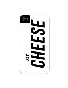 Coque Say Cheese Smile Blanc pour iPhone 4 et 4S - Jonathan Perez
