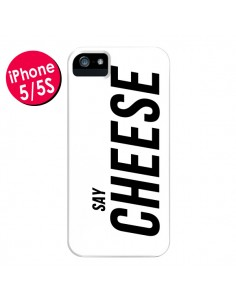 Coque Say Cheese Smile Blanc pour iPhone 5 et 5S - Jonathan Perez