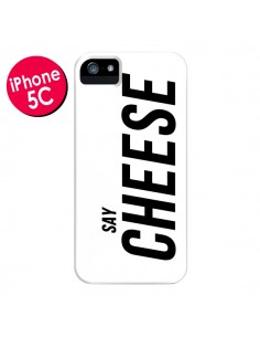 Coque Say Cheese Smile Blanc pour iPhone 5C - Jonathan Perez