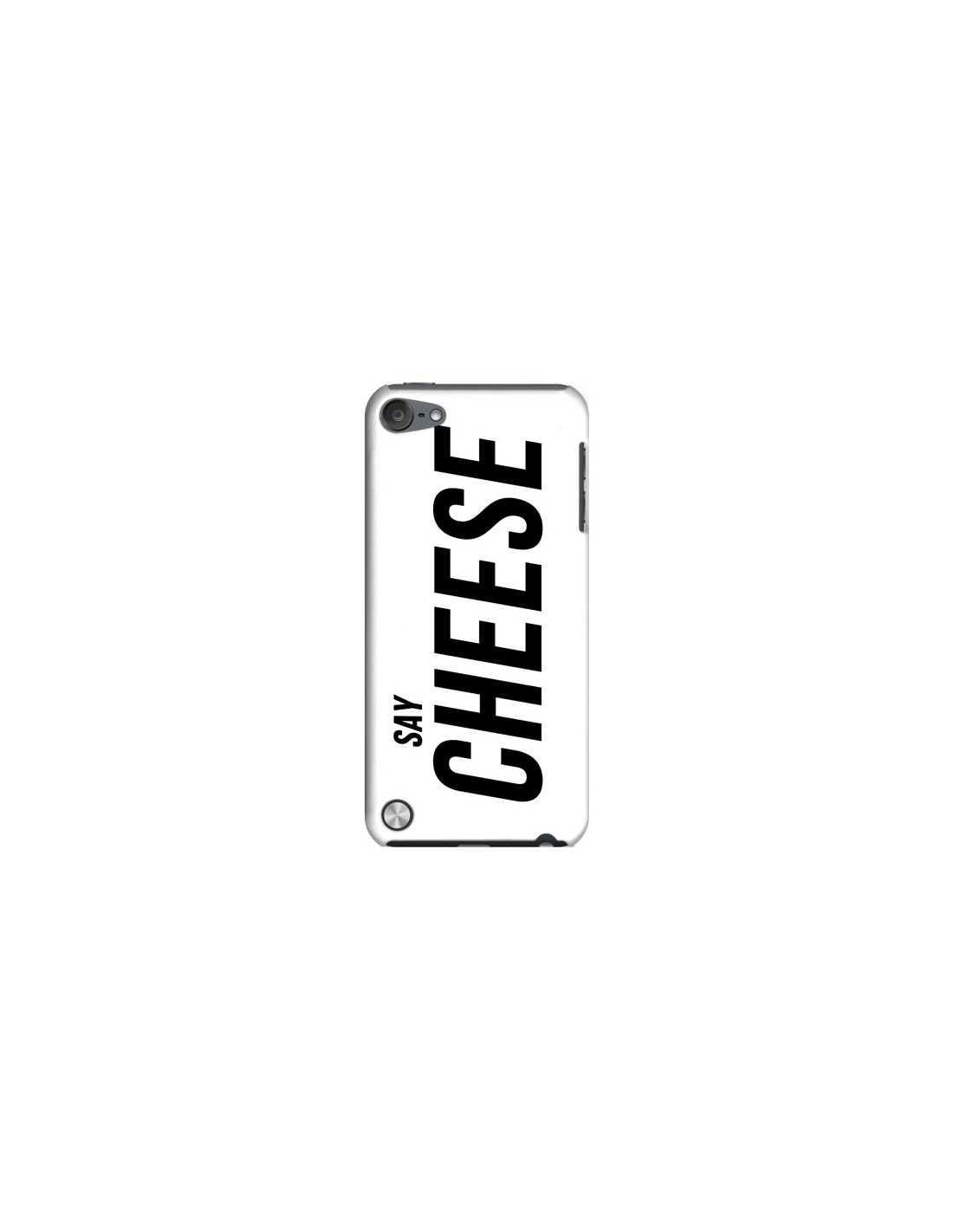 coque say cheese smile blanc pour ipod touch 5