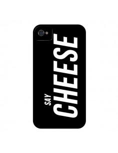 Coque Say Cheese Smile Noir pour iPhone 4 et 4S - Jonathan Perez