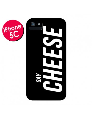 Coque Say Cheese Smile Noir pour iPhone 5C - Jonathan Perez