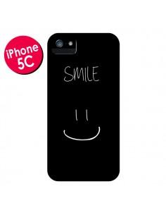 Coque Smile Souriez Noir pour iPhone 5C - Jonathan Perez