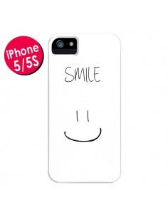 Coque Smile Souriez Blanc pour iPhone 5 et 5S - Jonathan Perez
