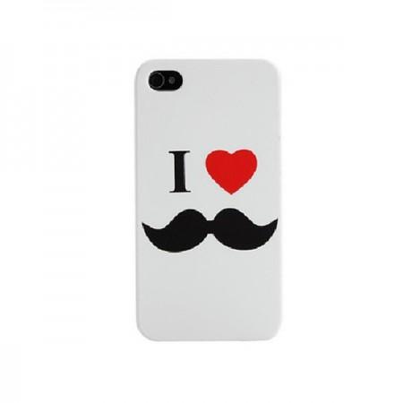 Coque I Love Moustache pour iPhone 4/4S