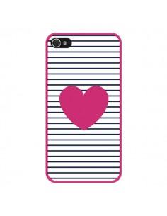 Coque Coeur Traits Marin pour iPhone 4 et 4S - Jonathan Perez