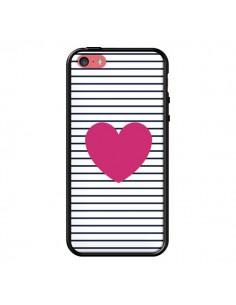 Coque Coeur Traits Marin pour iPhone 5C - Jonathan Perez