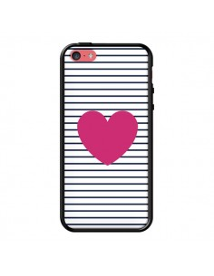 Coque Coeur Traits Marin pour iPhone 5C - Jonathan Perez