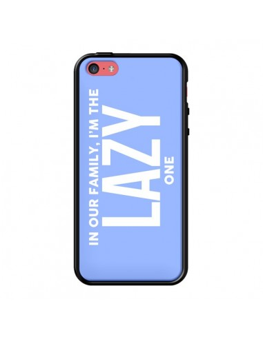 Coque In our family i'm the Lazy one pour iPhone 5C - Jonathan Perez
